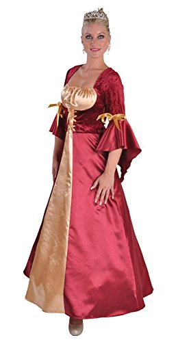 aux-rot Damen Rokoko Hexen Kostüm Kleid Prinzessin Marquise lang Gr.XL (Edle König Erwachsenen Kostüme)
