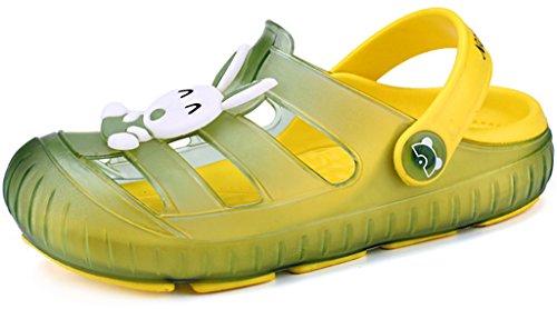 Gaatpot Zuecos Para Unisex Niños Sandalia Zapatos Zapatillas Chanclas de Playa de Verano Verde 22