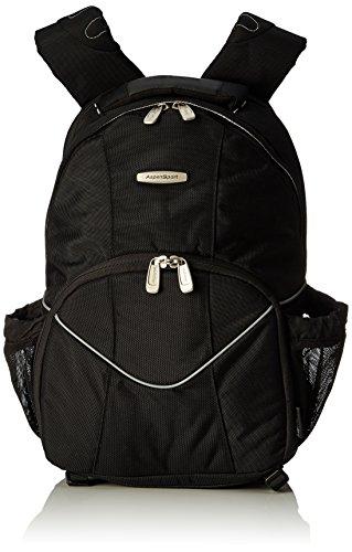 Aspensport Kamera und Laptop Rucksack, schwarz