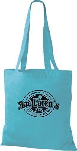 YOUR Stoffbeutel MAC HOW LAREN`S diverse MOTHER sky blue Farbe I MET ShirtInStyle IRISH PUB 1SZqwI61