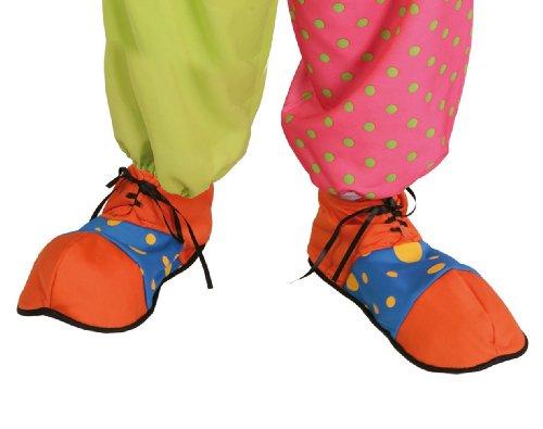 blau orange Clown Schuhe für (Schuhe Clown Erwachsene Blau)