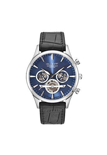 Gant Herren Multi Zifferblatt Quarz Uhr mit Leder Armband GT005001