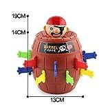 Sipobuy Pop Up Pirate Fun Barrel Enfants Groupe d'Action Préscolaire Jeu,19 * 13cm