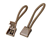 OneTigris 10pcs Zipper Pulls Cord Lock Stopper End Fastener Paracord DIY (Tan)