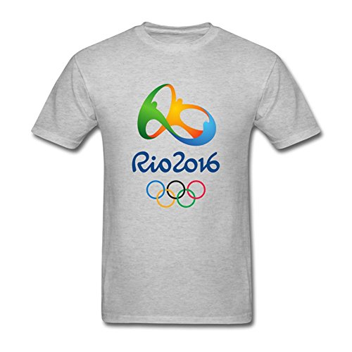 M6T4YR Men's The 2016 Rio De Janeiro Olympic Games Emblem T Shirts