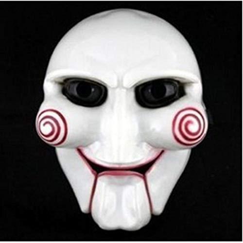 LKJH Mascara Cosplay De Fiesta De Moda Billy Jigsaw Saw Máscara De Marionetas Accesorios De Disfraces De Disfraces Populares Aumentar El Ambiente Festivo