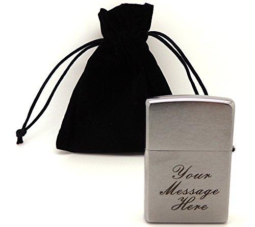 briquet-zippo-chrome-brosse-200-avec-pochon-cadeau-noir-gravure-personnalisee-inscription-caracteres
