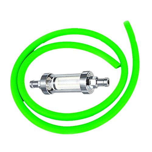 Baoblaze Gas-Inline-Kraftstofffilter für alle Mini-Moto- und Pocket-Bikes + 4 Stücke Schlauchschellen - Grün