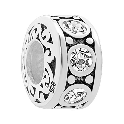 Poetic Charms Jan-Dez Simulierte Geburtsstein 12 Farben Spacer Charm Perlen kompatibele Europäisch Charme Armbänder