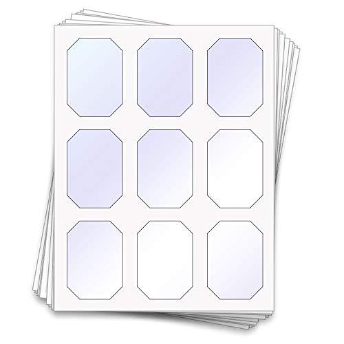 45bedruckbar Candy Buffet Schilder und Etiketten für Gläser und Behältern, 7,6x 5,3cm, klar, glänzend, Aufkleber für zeigt, Weck und Mason Sturzgläser Kunststoff transparent