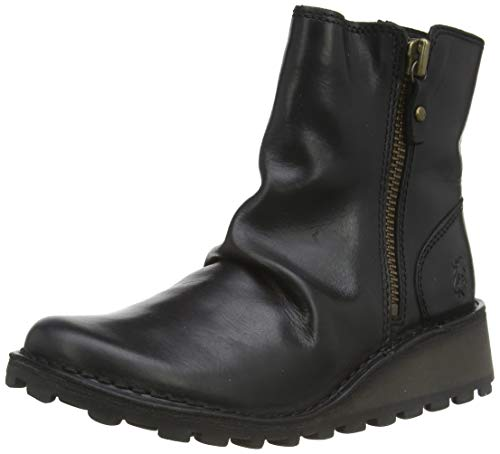 Fly London MON944FLY, Botas para Mujer, Negro Black, 38 EU