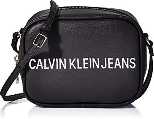 Calvin Klein Damen Sculpted Camera Bag Umhängetasche, Schwarz (Black), 12x17x8cm