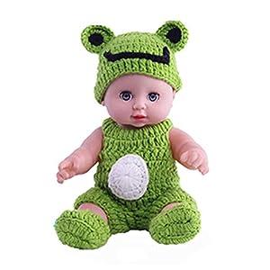 kabinga YM 126 Parpadeante de simulación, muñeca de gelatina Completa, Servicio de Limpieza, educación temprana, Regalo de Juguete para Padres e Hijos, Verde, Unisex-Baby, M