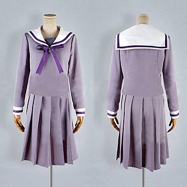 Noragami Hiyori Iki Mädchen Schuluniform Cosplay Kostüm(Mailen Sie uns Ihre Größe),Größe S:(150-160 (Kostüm Iki Hiyori)