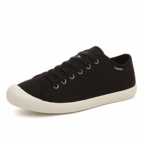 Men's Zapatillas Vintage Lace Up Casual Canvas Shoes 2