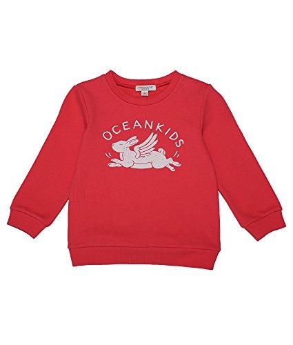 Oceankids Jungen Baumwoll-T-Shirt mit geripptem Rundhalsausschnitt und Manschetten Rosa 4T (4t Gerippt)
