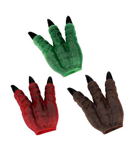 Depesche 5456 Pranke aus weichem Kunststoff, Dino World, ca. 3,4 x 14 x 20 cm, Sortiert, bunt (Handpuppe Mädchen Kostüm)