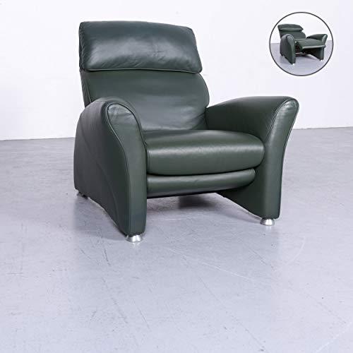Musterring Designer Leder Sessel Grün Echtleder Stuhl Relax #6660