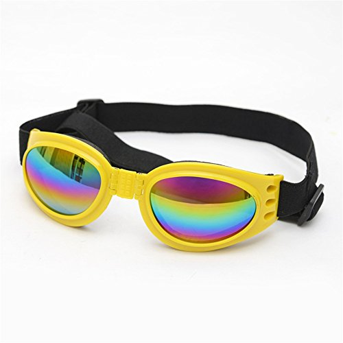 Hundebrille Genießen Sie die Augenschutz Sonnenbrille Puppy Fashion Sonnenbrille Wasserdicht Winddicht UV Schutz Hund. für kleine mittelgroße Hunde Brille Welpenbrillen Windpr ( Farbe : Gelb )