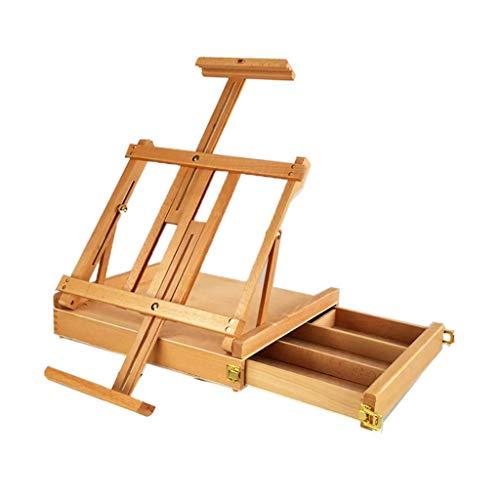 LQhj Staffeleien Tragbare, tragbare, klappbare Lehrstaffelei mit dreischichtiger Tischplatte aus...