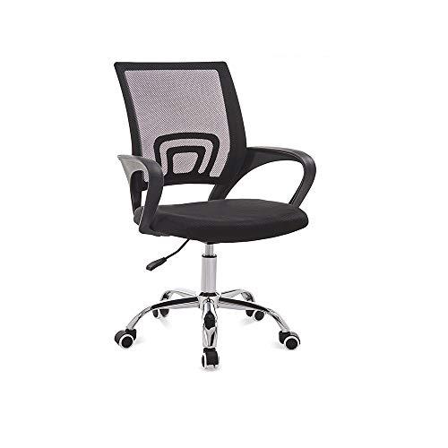 LLZK Computerstuhl,Stuhl aus Mesh mit hoher Rückenlehne Ergonomischer Sitz Drehstuhl,Bürostühle mit Armlehnen und Rückenlehne,mit Lordosenstütze,Höhenverstellung,Atmungsaktiver Netzrücken