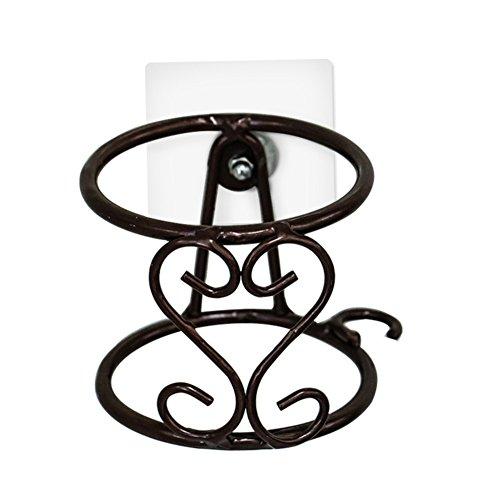 Porte-Sèche-Cheveux,Porte-séchoir,grille de fer séchage cheveux salle de bains salle de bain porte-séchoir Sèche-cheveux Perforé mural d'aspiration-tasse-sèche-linge-libre-B