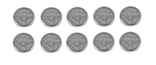 AG1 S621E SG1 LR60 134 LR621 GP364 Lot de 10 piles bouton pour montre 1,55 V
