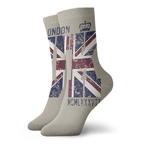 Funny Colourful London UK Flag Mannschaftssocken Outdoor Socks for Unisex Over The Knee Socks (Uk Halloween-party London In)