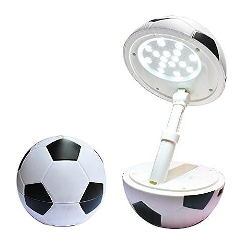 Happy Dream Lampe de Bureau LED veilleuse USB port enfants lampe de table de tableau dimmable lampe Lampe de table Pliable, Lampe de chevet table chevet de led pliable bureau lampe de luminosité réglable Protection vos yeux football de forme(Noir)
