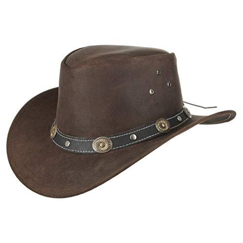 Kids Reno Cappello in Pelle Scippis cappello australiano pelle genuina  cappello di vacchetta 454b73e7bf4a