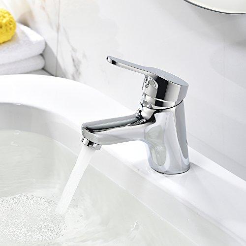 HOMELODY Mini Basin Sink Mixer Tap Single Handle Mono Bathroom Taps ...