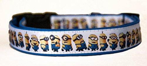 MasTazas Despicable Me Gru Minions Handgemachte Hundehalsband Handmade Dog Collar Größe XL (Despicable Me Dog)