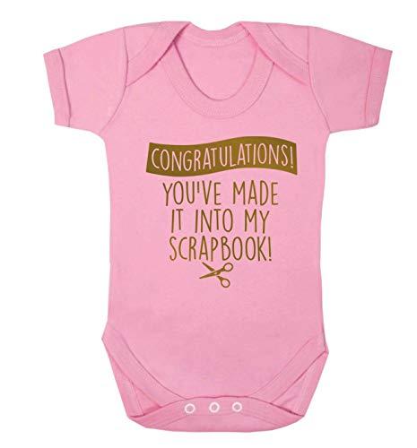 Flox Creative Baby Vest You've Made it My Scrapbook Light Pink 3-6 Months -