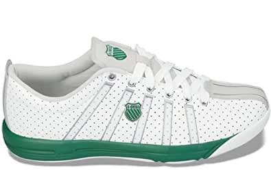 K-Swiss Speedster Classic Low Men's Tennis Trainers, White & Green (8 UK)