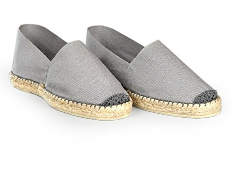 Espadrille homme gris - fabrication artisanale made in pays basque france Gris