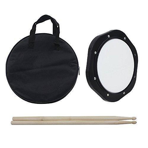 Ammoon 25cm (10Zoll) Drum-Übungspad mit Schlägeln und Tragetasche