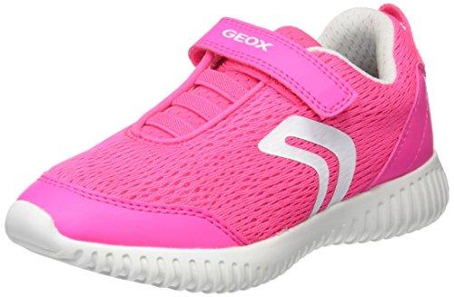 Geox Mädchen J Waviness Girl C Sneaker, Pink (Fluo Fuchsia), 31 EU