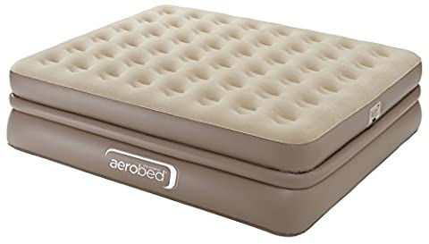 Aerobed Unisex Luxury Collection Raised Airbed Indoor Air Bed with Built-in Electric Pump, Beige