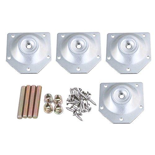 sgerste 70x 67mm Eisen silber Möbel Industrieller Stärke Bein Montageplatten t-plate für Sofa Tisch Beine 4Stück