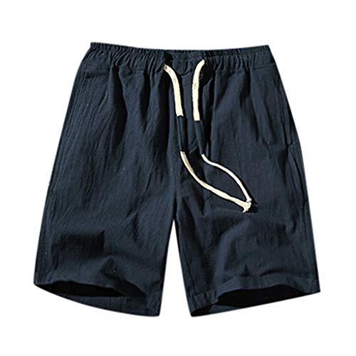 0161f3b78 TWISFER Herren Große Größe Leinen Shorts Bermudas Freizeitshorts Chino  Strand Shorts Kurze Hosen Mit Kordel Sommer