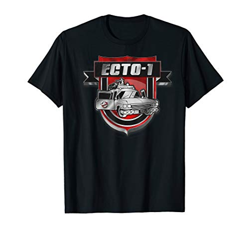 Ghostbusters Ecto-1 Shiny Badge T-Shirt for Men or Women, many colours
