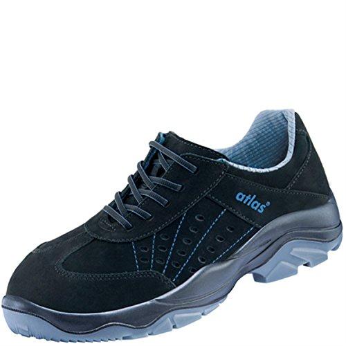Atlas - Mi-Chaussures de Sécurité alu-tec 302 redline - EN ISO 20345 S1 - W10 Noir/Bleu S1
