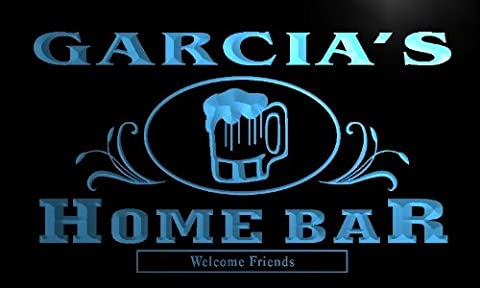 x1018-tm Garcia's Home Bar Neigborhood Pub Custom Personalized Name Neon Sign