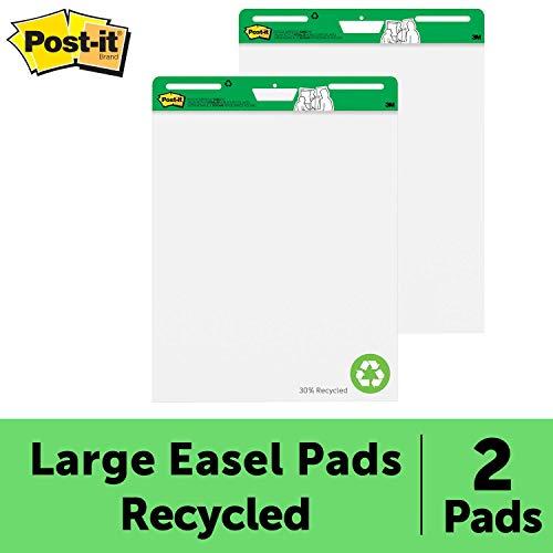 Post-it MC559RP Super Sticky Meeting Chart zu 30% aus Altpapier (2 Block 30 Blatt, 63,5 x 76,2 cm) wei?