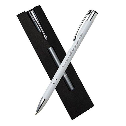 Preisvergleich Produktbild Specialized Geschenke Kugelschreiber Weiß mit schwarzem Karton Wallet (blaue Tinte & zusätzliche schwarze Tinte)