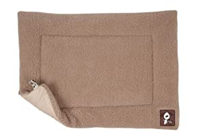 Yap Cossii Cage and Carrier Mat, Beige Faux Lambswool