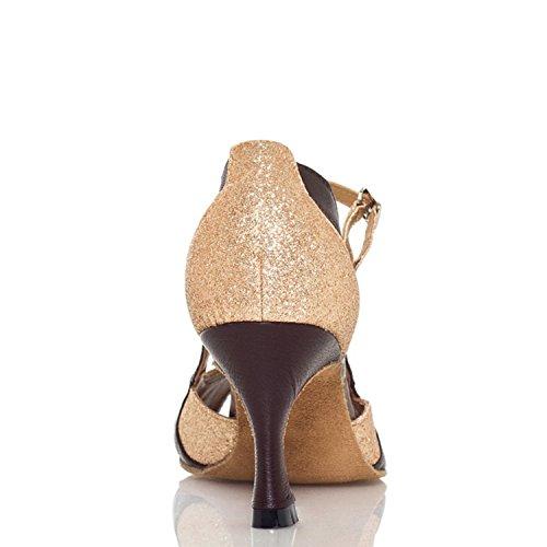 Minitoo YCL003 sangles conçus pour écoles de danse latine chaussures à Paillettes Doré