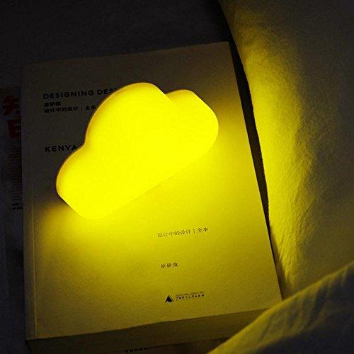 Mini lumière de Nuit, contrôle sonore Automatique et Lampes de Chevet magnétiques Souples de Dimion de Silicium, lumières Rechargeables de Nuage de LED pour la Chambre d'enfants, Yellow Light