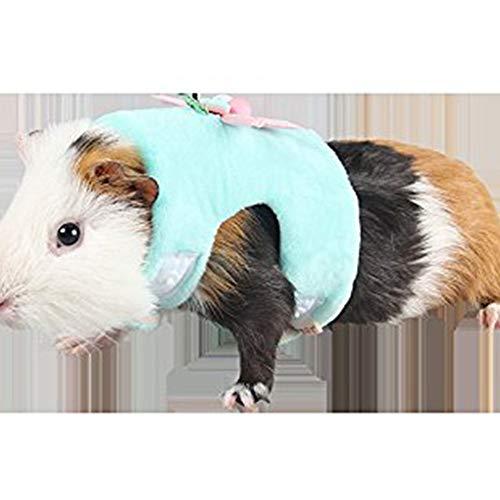 Qiyun Babykleid mit Leine aus Weicher Baumwolle für Eichhörnchen Locken Löchern Kleine Haustiere S/L Verde S (Haushaltswaren)