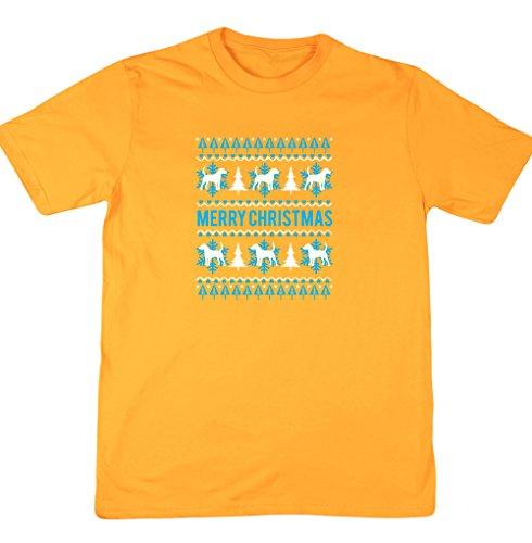 hippowarehouse-camiseta-hombre-amarillo-dorado-xx-large